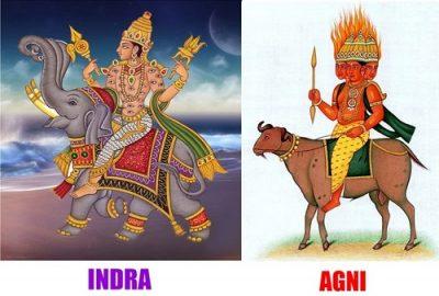 Индра - Агни боги Вишакха