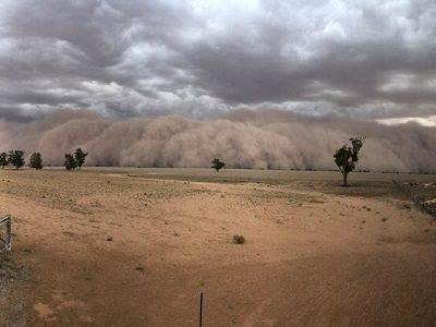 Песчаные бури Австралия